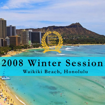 2008 Winter Session Written Materials (Waikiki Beach,HI)
